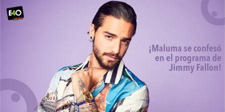 Maluma se confesó en el programa de Jimmy Fallon